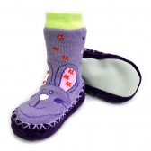 "Носки детские на подошве ""Зайчонок"" (violet)"