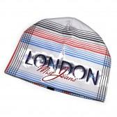 """Шапка женская со стразами """"London"""" (grey)"""