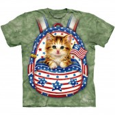 "Футболка The Mountain ""Patriotic Backpack Kitten"" (детская)"