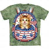 "Футболка The Mountain ""Patriotic Backpack Kitten"" (детская)"