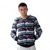 """Толстовка мужская на молнии с капюшоном """"Glacier Wear"""" -04"""
