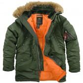 """Куртка-аляска """"Alpha Industries"""", классическая, зауженная (sage/orange)"""