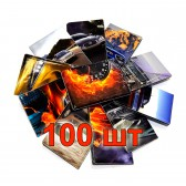 Обложки для ВУ в ассортименте, 100 шт.
