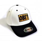 """Бейсболка """"OBEY"""" (white & black)"""