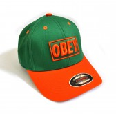 "Бейсболка ""OBEY"" (green & orange)"