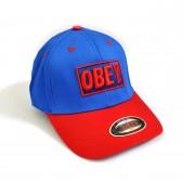 """Бейсболка """"OBEY"""" (blue & red)"""