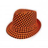 """Шляпа женская """"Клетка"""" (orange)"""
