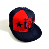 """Бейсболка """"I star"""" (d-blue @ red)"""