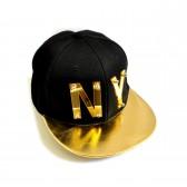 "Бейсболка 3D ""NY"" (black & gold)"