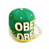 "Бейсболка 3D ""OBEY"" (green & yellow)"