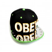 "Бейсболка 3D ""OBEY"" (black & green)"