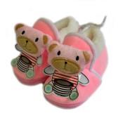 Тапочки-пинетки меховые для младенцев -06