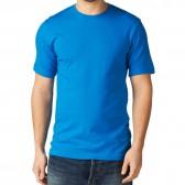 Футболка однотонная, классическая, цвет голубой