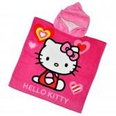 "Детская махровая накидка с капюшоном ""Hello Kitty"""