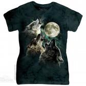 """Футболка женская """"Three Wolf"""" (США)"""