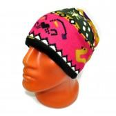 Шапка-шарф флисовый с орнаментом -27