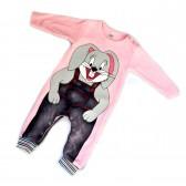 """Детское боди  """"Bunny""""  с рукавами (pink)"""