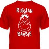 "Футболка детская ""Russian Barbie"""