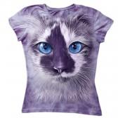 """Футболка женская """"Фиолетовый кот"""""""