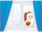 """Наклейка на стену """"Санта Клаус"""""""