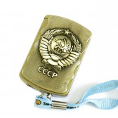 """Зажигалка газовая """"Медный герб СССР"""""""