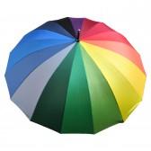 """Зонт """"Радуга"""" 16 цветов/спиц, 115 см (механический, прямая ручка.)"""
