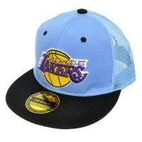 """Кепка реперская """"Los Angeles Lakers"""" (детская) с сеткой -03"""