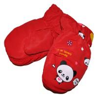 """Варежки детские """"Panda"""" (red)"""
