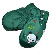 """Варежки детские """"Panda"""" (green)"""