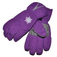 """Перчатки женские """"Снежинка"""" (purple)"""