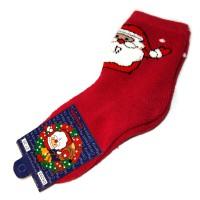 "Носки ""Дед Мороз"" (crimson)"