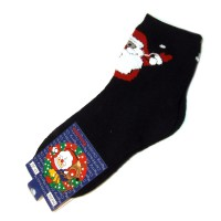 "Носки ""Дед Мороз"" (black)"