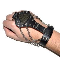 Слейв-браслет кожаный -09