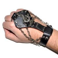 Слейв-браслет кожаный -11