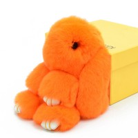 """Меховой брелок """"Зайчик"""" (кролик) 18 см на сумку -21"""