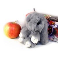 """Меховой брелок """"Зайчик"""" (кролик) 13 см на сумку -01"""