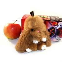 """Меховой брелок """"Зайчик"""" (кролик) 13 см на сумку -09"""