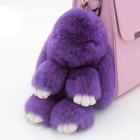 """Меховой брелок """"Зайчик"""" (кролик) 18 см на сумку -39"""