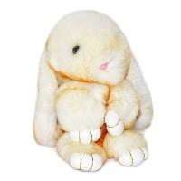 """Меховой брелок """"Зайчик"""" (кролик) 18 см на сумку -50"""