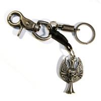 """Брелок для ключей """"Крест-Череп"""""""