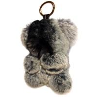 """Меховой брелок """"Мишка"""" 18 см на сумку -12"""