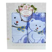 """Набор полотенец подарочный """"Мишки"""" (blue)"""