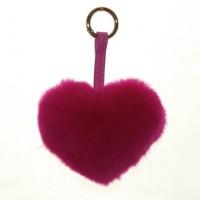 Меховое сердце, брелок (натуральный мех) - 14