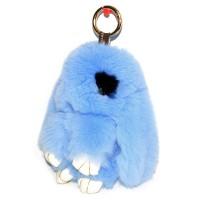 """Меховой брелок """"Зайчик"""" (кролик) с ресничками 18 см на сумку -28"""