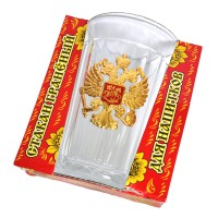 """Стакан граненый """"Герб РФ"""""""