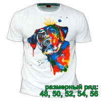 "Футболка ""Цветная собака"" (размерный ряд)"