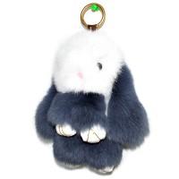 """Меховой брелок """"Зайчик"""" (кролик) 18 см на сумку -70"""