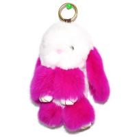 """Меховой брелок """"Зайчик"""" (кролик) 18 см на сумку -72"""
