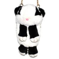 """Меховая сумка рюкзак """"Панда"""""""