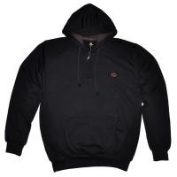 Толстовка с карманами и капюшоном, черная  (Samo)_COPY